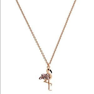 NWT Bird's the Word Flamingo Necklace