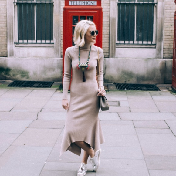 Nasty Gal Dresses & Skirts - Nasty Gal nude sweater dress