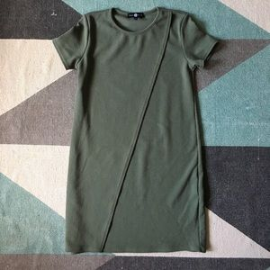 NWOT ASOS daisy street green draped mini dress.