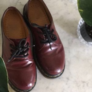 TWO Classic Red/Burgundy 1461 Dr. Martens