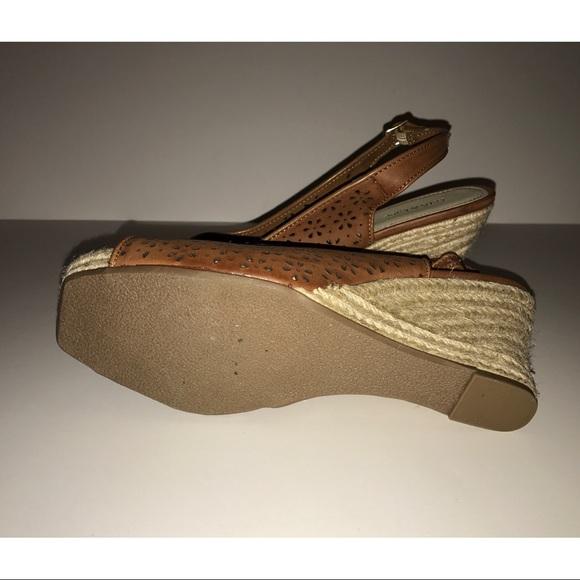 Kelly & Katie Shoes - Kelly & Katie Open Toe Tan Wedge Sandals NEW