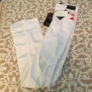 Fashion Nova ripped white jeans