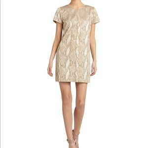 French Connection Fast Metal Snake Print Dress
