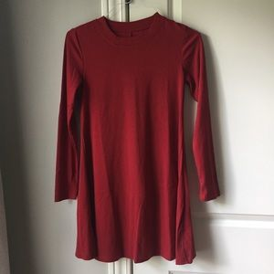 NWOT red knit long sleeve dress