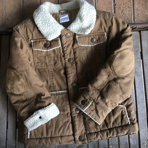 Kids Gymboree Tan Snap Button Coat