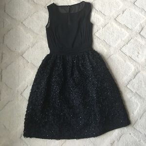 French Connection Black Sequin dress