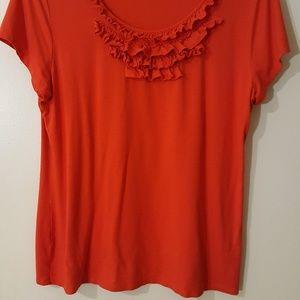 Coldwater Creek reddish orange blouse