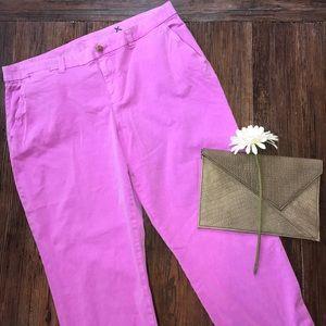 GAP neon purple broken in khakis