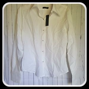 The Limited White Button Up Blouse Medium