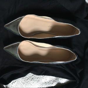 "EUC Loeffler Randall ""Milla"" silver ballet shoes"