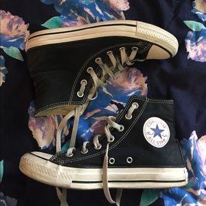 Converse hi top sneakers black