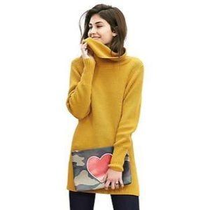 Banana Republic Mustard Turtleneck Sweater.