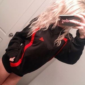 ⚡️ Adidas Pullover 1/2 Zip Track Jacket