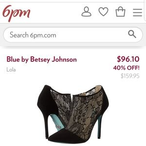 Betsey Johnson Black Lace booties