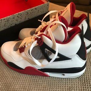 08f5db369ab3ca Air Jordan Shoes - Red Black and White Retro Air Jordan 4 s
