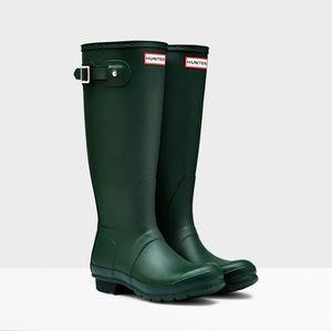 Green Hunter Boots - Women's Tall