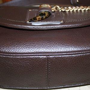764183baf5d3dd MICHAEL Michael Kors Bags - MICHAEL KORS JAMES MEDIUM SADDLE BAG COFFEE  LEATHE