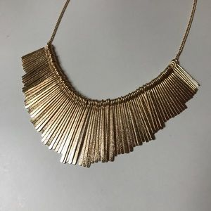 Francesca's Fringe Statement Necklace in Gold