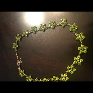 Ann Taylor green crystal necklace