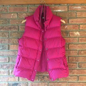 J. Crew Pink Down Vest