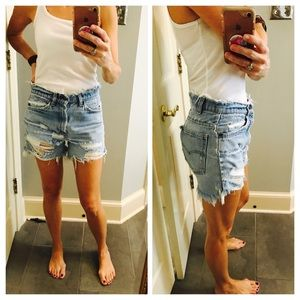 Vintage Levi's destroyed jean shorts size 4