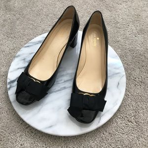 Kate spade black bow heels