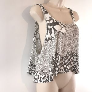 Forever 21 Floral Pattern Draped Blouse