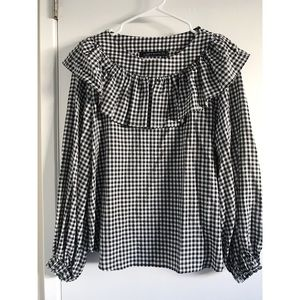 Zara grilled gingham top