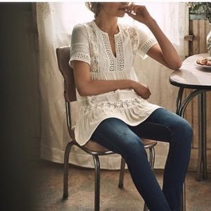 •nwt• maeve tired lace tunic