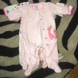 Carters child of mine 0 to 3 month onesie lot 4