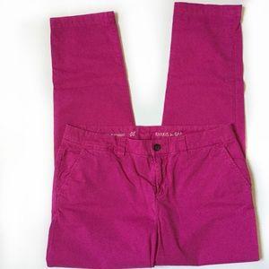 GAP Broken-in Straight Khaki's in hot pink
