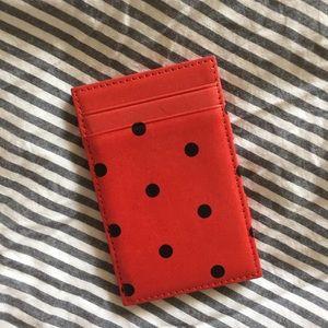 J.CREW magic wallet - polka dot