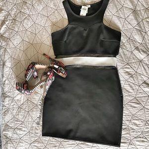Mesh cutaway dress