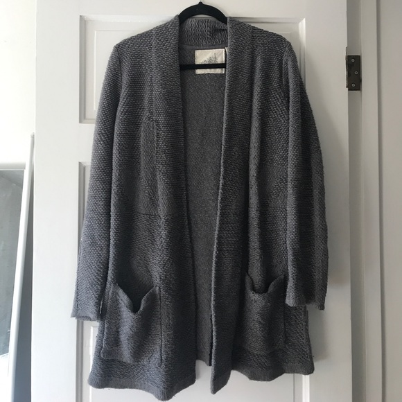 79% off Anthropologie Sweaters - Anthropologie Chunky Charcoal ...