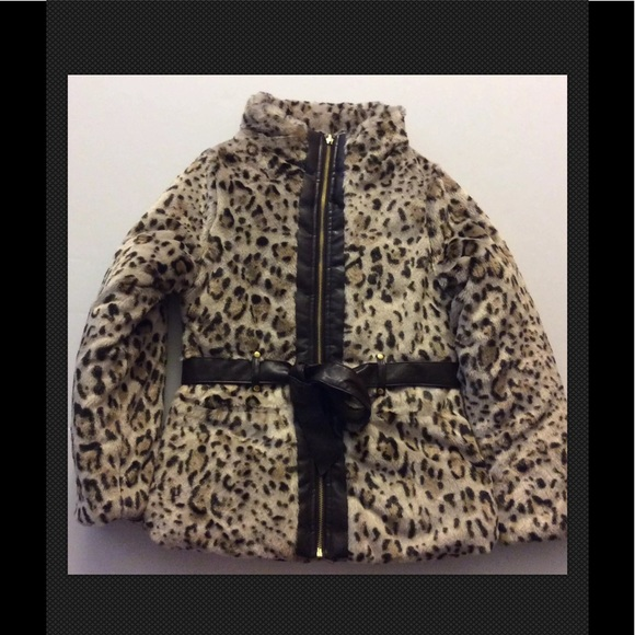 BCX Other - BCX Girl Faux Fur Coat Girls Sz Medium Fits 10-12
