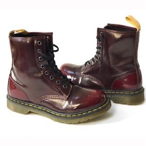 Dr. Marten's 1460 Vegan 8-eye Boot Cherry Red Sz 9
