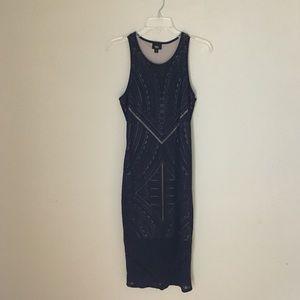 NWT Mossimo Black & Tan Midi Dress