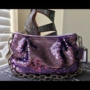 *SALE* NWT Coach Poppy Sequin Evening Bag 💜