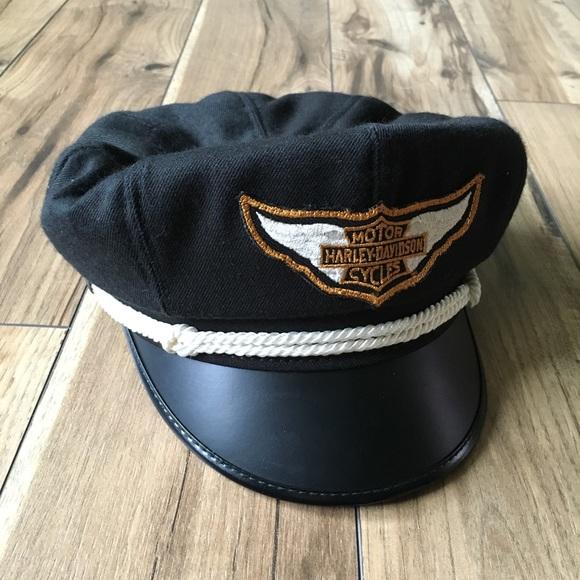 8ed6343e4 Vintage 1980s Harley-Davidson Captain's Hat