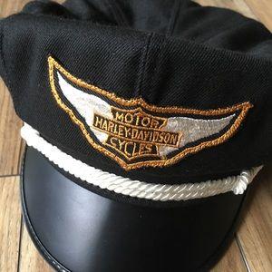 Vintage 1980s Harley-Davidson Captain's Hat