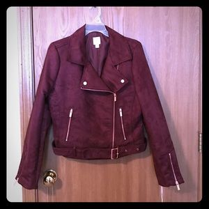 LC Lauren Conrad wine colored jacket size 8 NWT