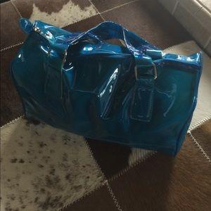polyurethane translucent make up bag NWOT