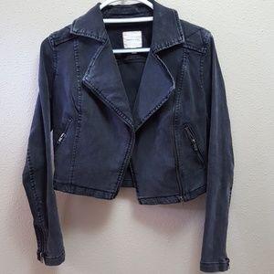 Silence & Noise gray biker jacket