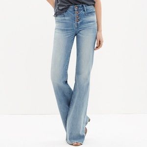 Madewell Flea Market Flare Button Front Edition