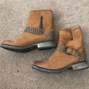 Distressed booties