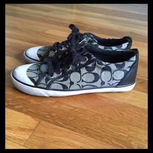 Black and Gray Coach Shoes