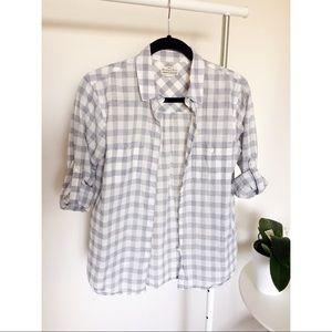 Madewell Broadway & Broome Plaid Shirt