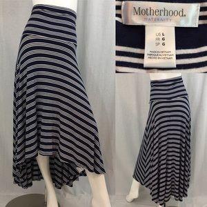🎒Large Motherhood Maternity Hi/ Low Striped Skirt