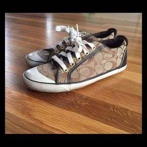 Brown and Tan Coach Shoes