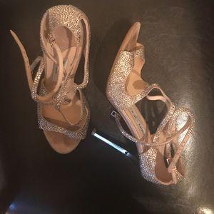 Jimmy Choo size 9 rhinestone shoes